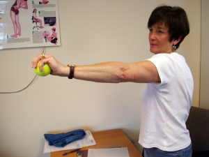 Test-for-painful-grip,-wrist-and-elbow-extended