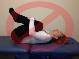 Low Back Pain Don't do Knees To Chest Exercises
