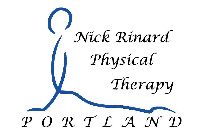 Nick Rinard Physical Therapy Logo Traced Outline Image of Man