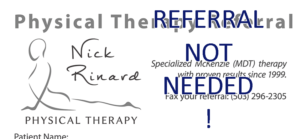 Referral Not Needed