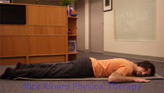 Low Back Pain lie on your stomach not your back
