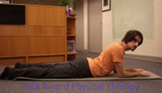 Low Back Pain Exercise On Stomach Elbow Support