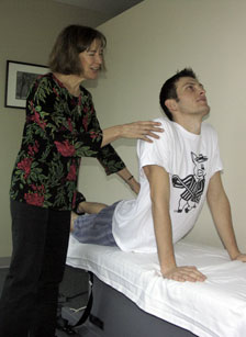 Nick Rinard Physical Therapy Patient being treated using the MDT Method
